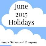June 2015 Holidays