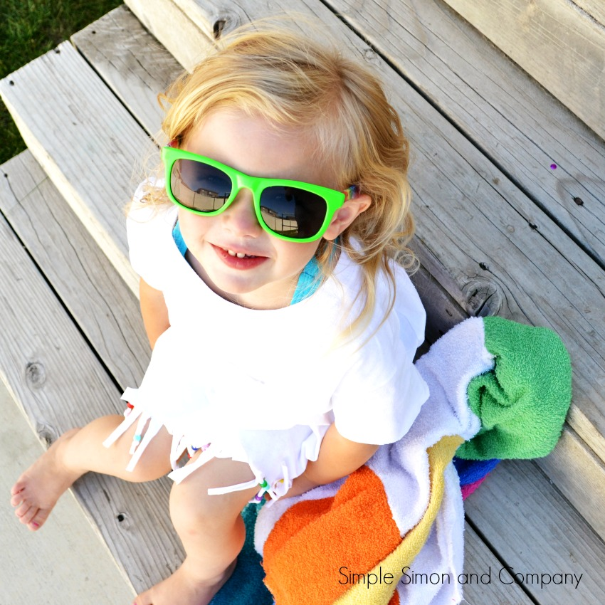 No Sew Swimsuit CoverUp with Ruth in Glasses