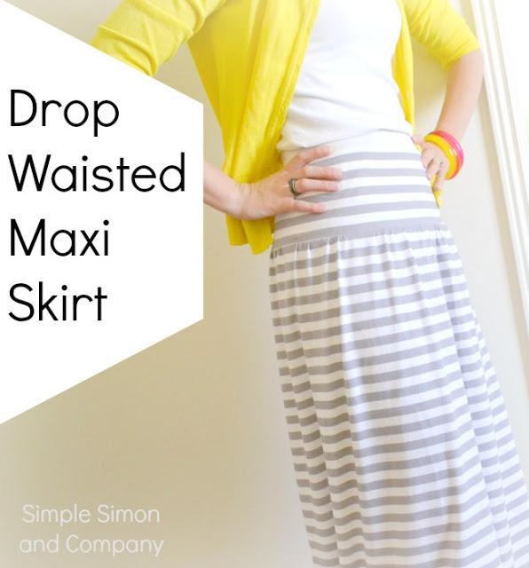 Drop Waisted Maxi Skirt