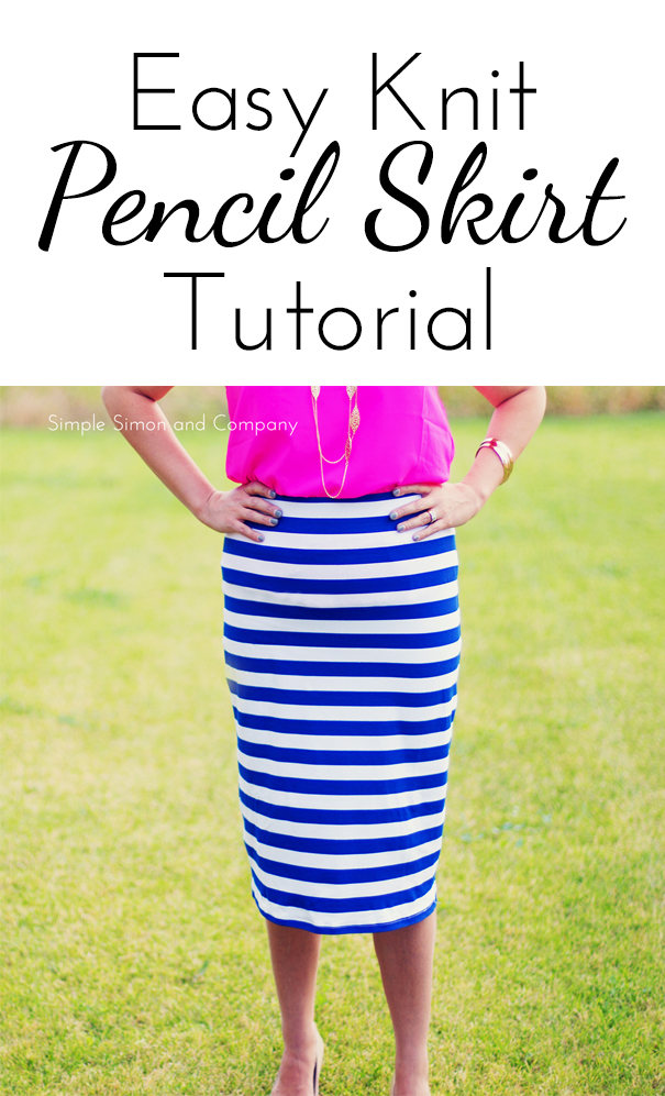 easy knit pencil skirt tutorial