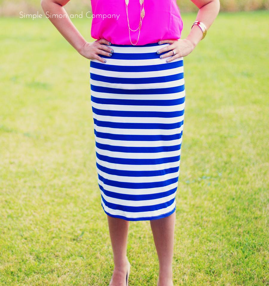 Knit Midi Pencil Skirt Tutorial Simple Simon And Company