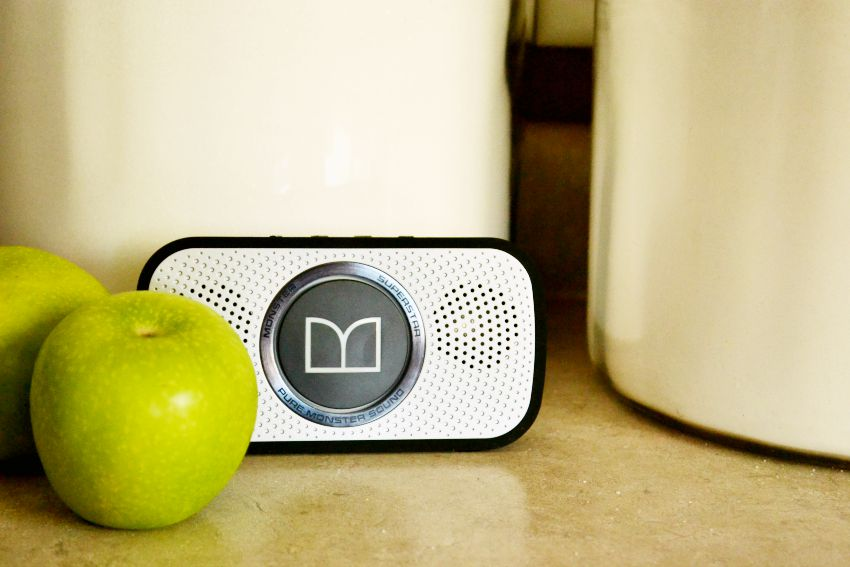 Monster Speakers in kitchen