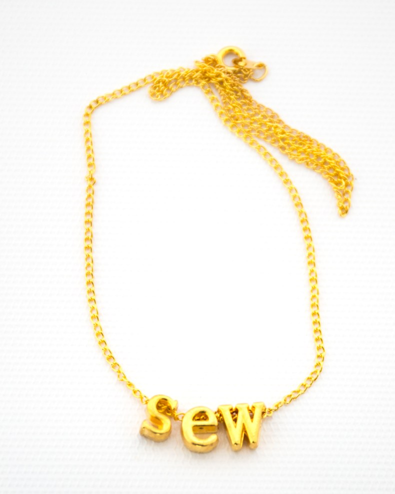 sew necklace