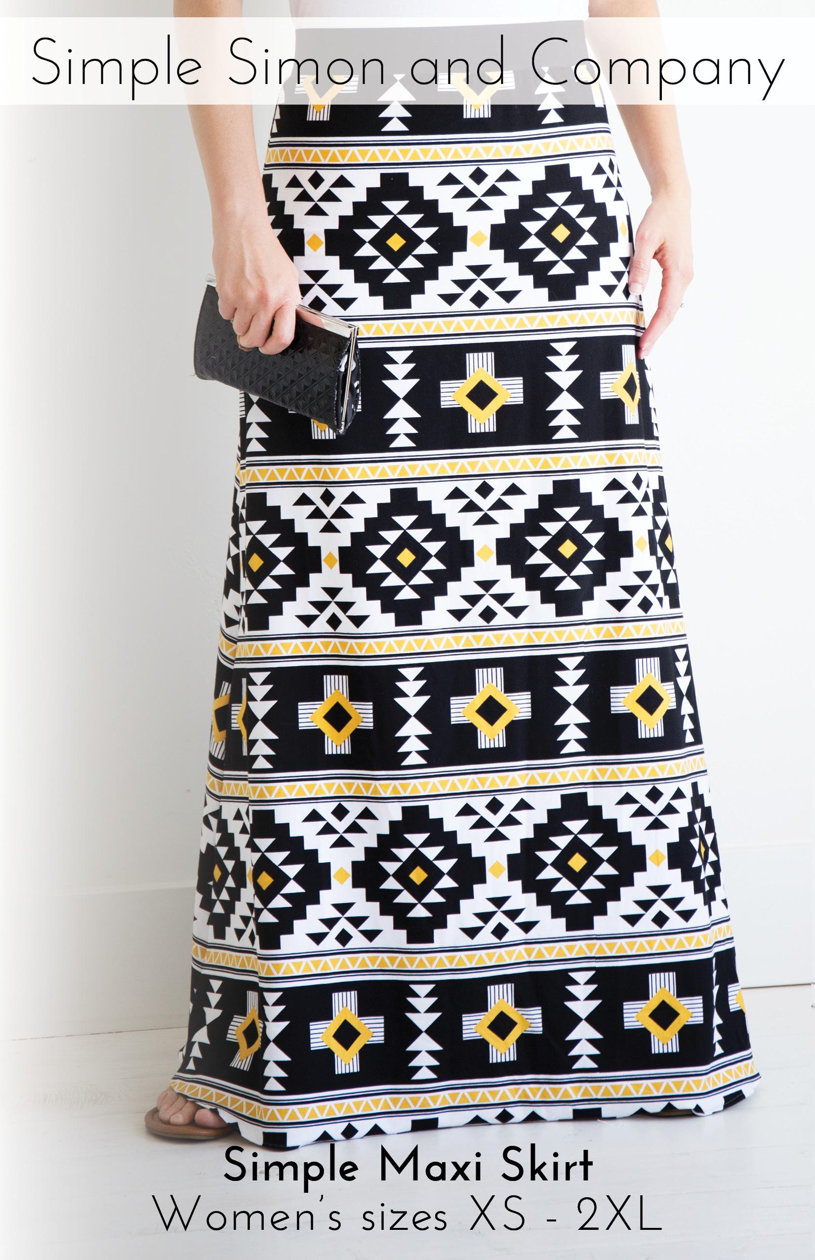 d9299f0b5a Simple Women's Maxi Skirt PDF Pattern—FREE!!!
