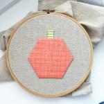 Hexagon Pumpkin Tea Towel Tutorial
