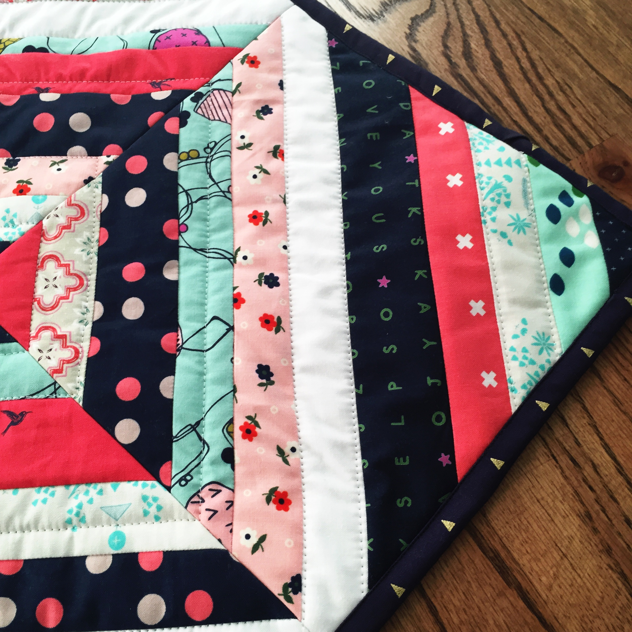 String Quilt Block---Making the Mini Quilt