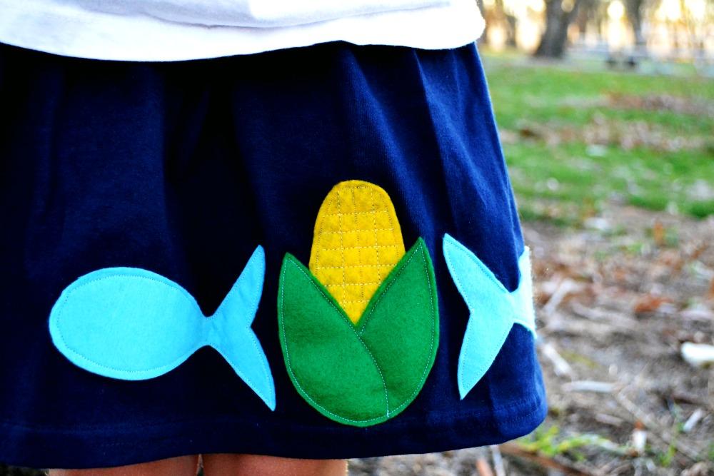 Thanksgiving Skirt Detail