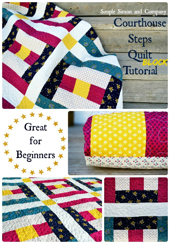 Courthouse Steps (Quilt Block of the Month) - Simple Simon and Company : courthouse steps quilt block - Adamdwight.com