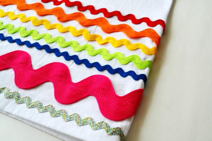 Rainbow Ric Rac Skirt Step 3