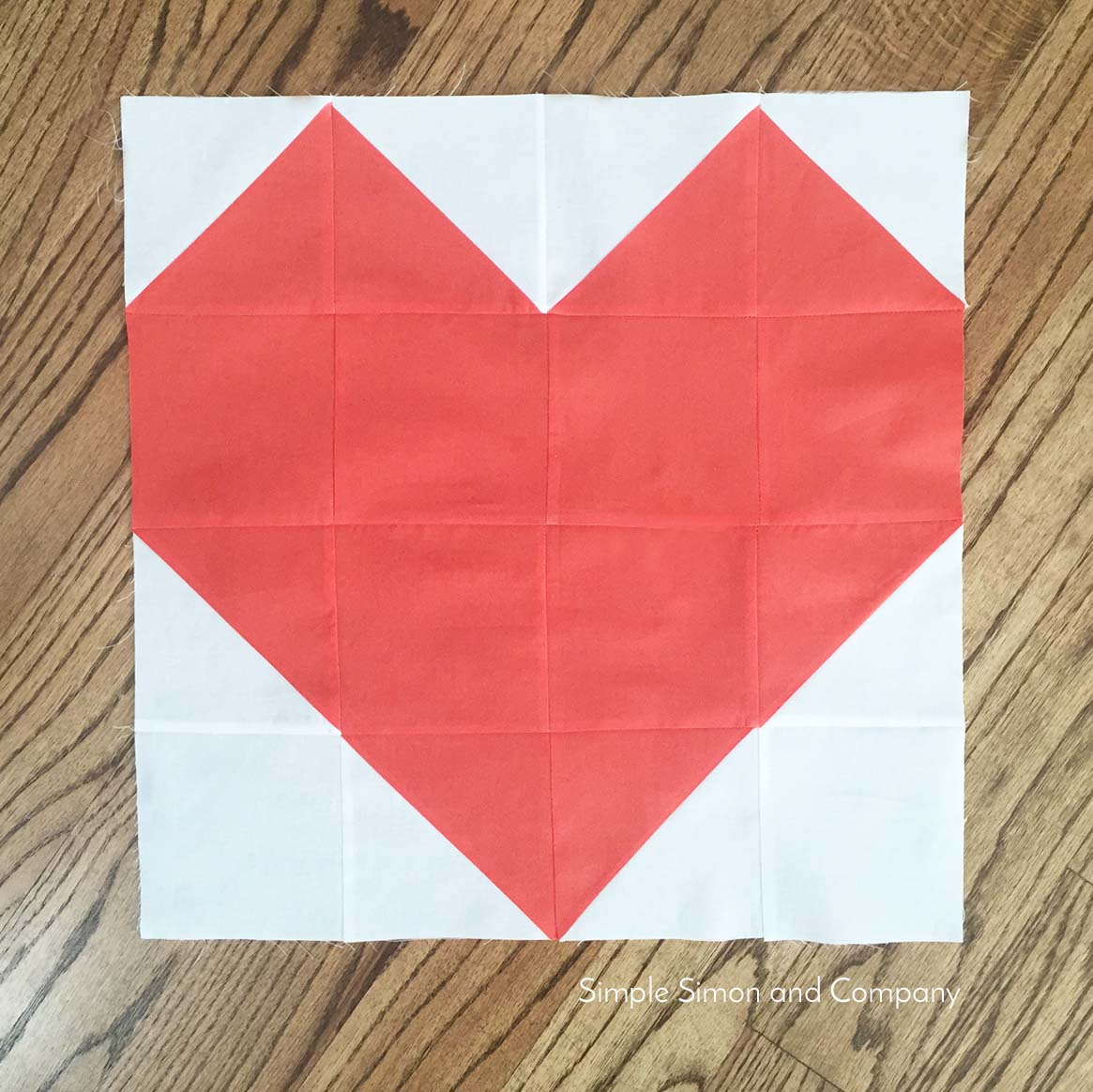heart quilt block real