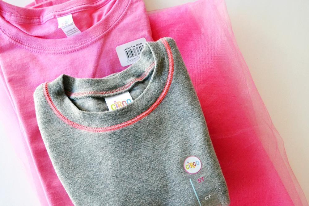 Sweatshirt to Dress Step 1
