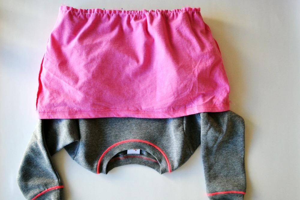 Sweatshirt to Dress Step 7