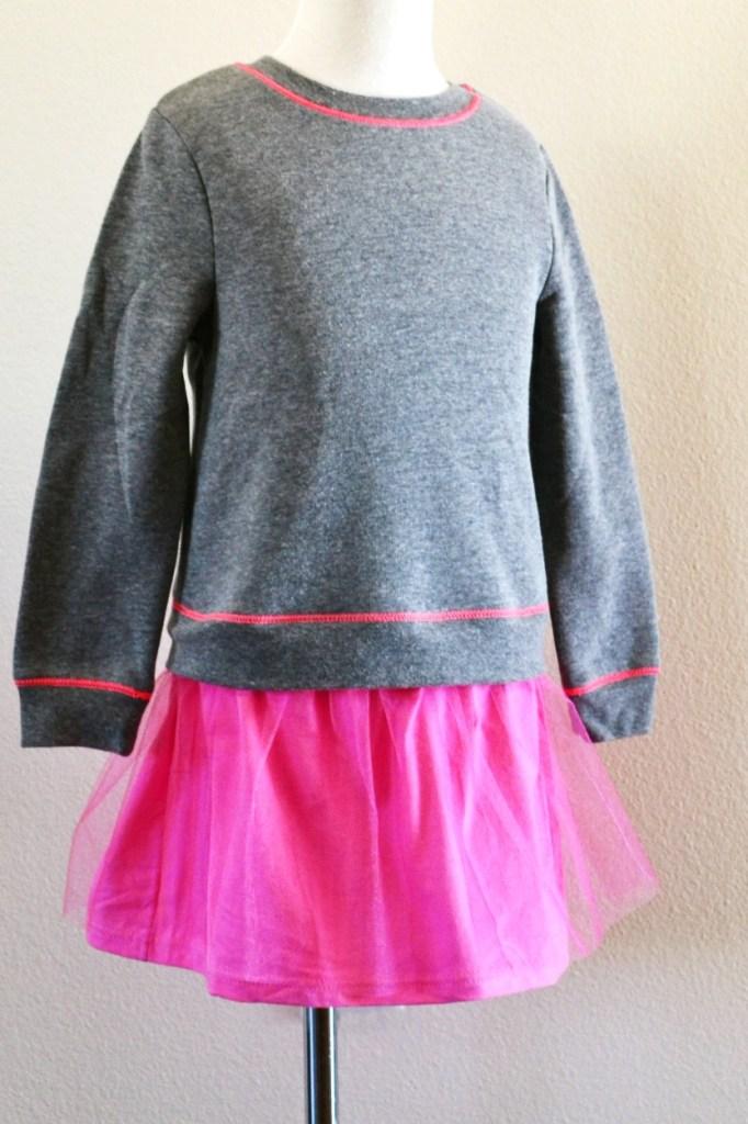 Sweatshirt to dress full body