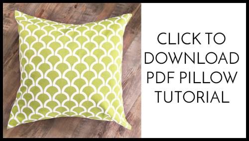 envelope pillow button