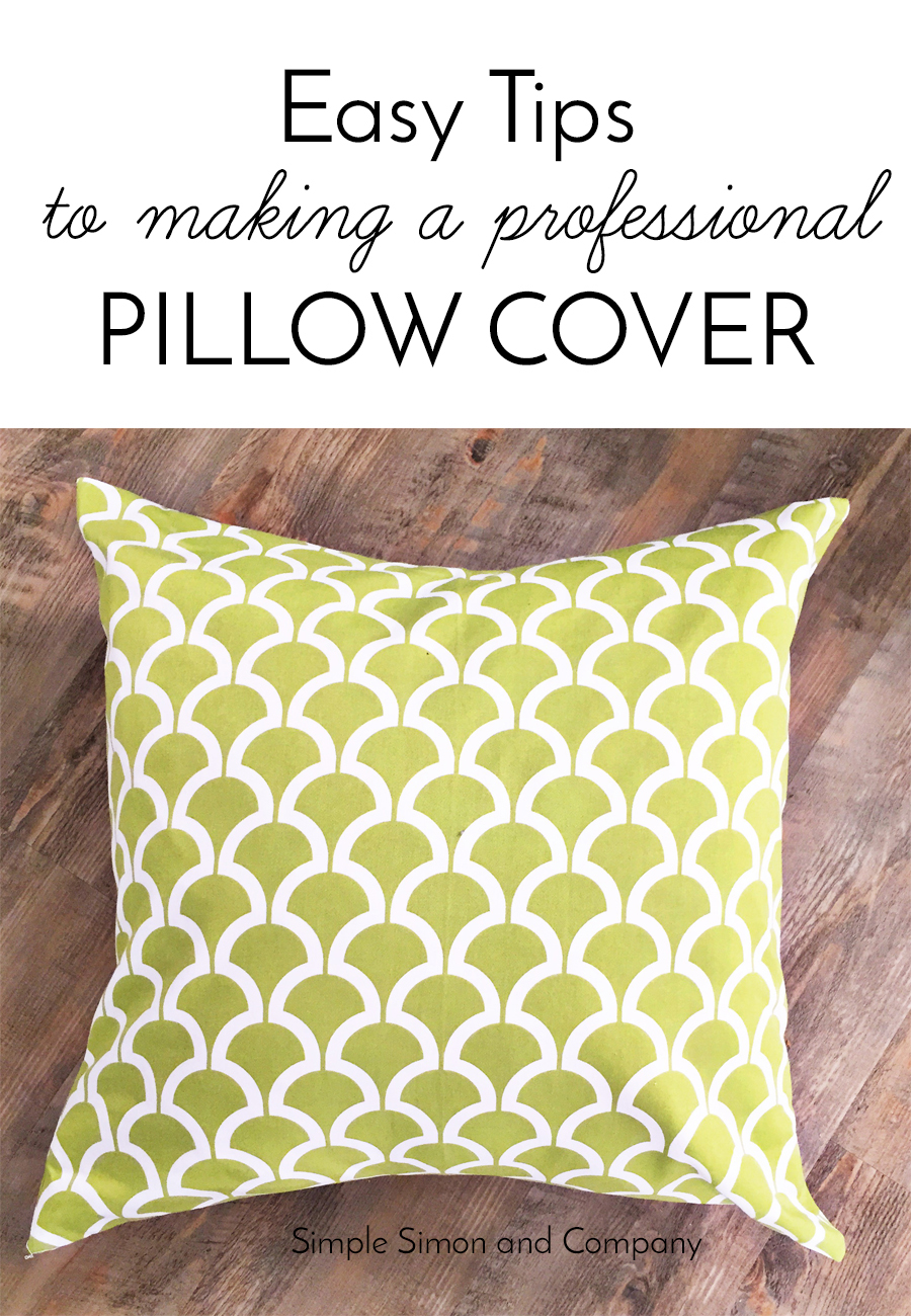 easy tips to make a professional pillow cover - How To Make A Pillow Cover