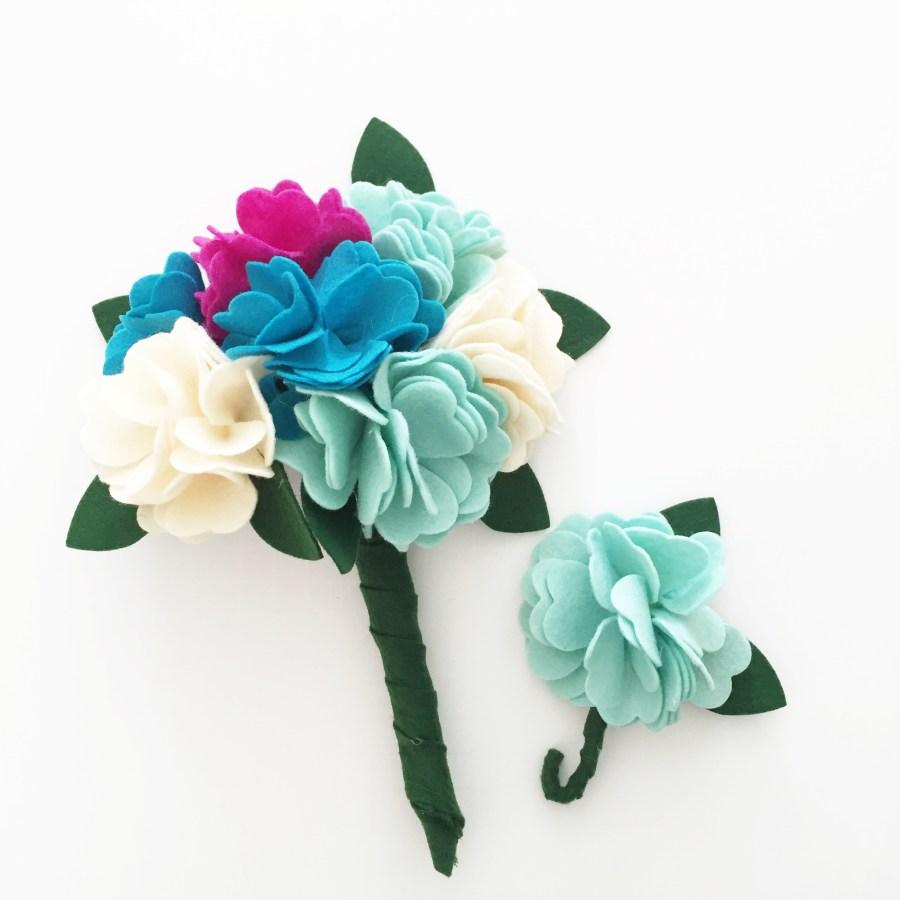 Diy felt flower bouquet tutorial simple simon and company pictapgo image 46 izmirmasajfo