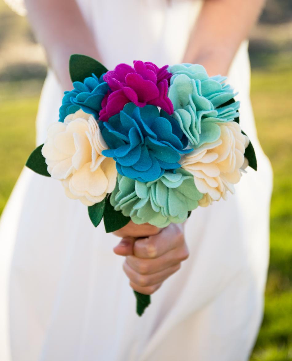 DIY Felt Flower Bouquet Tutorial - Simple Simon and Company