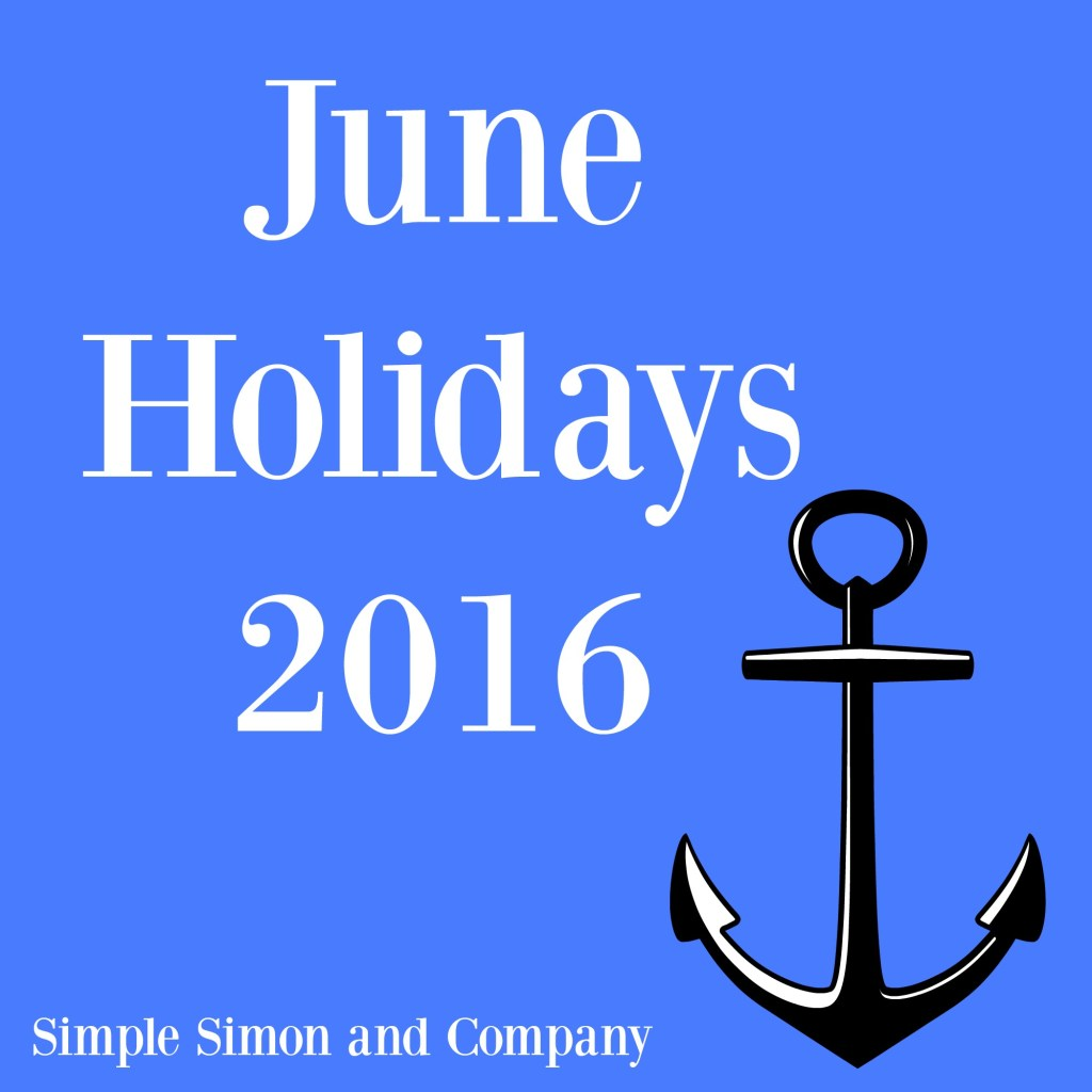 June HOlidays 2016