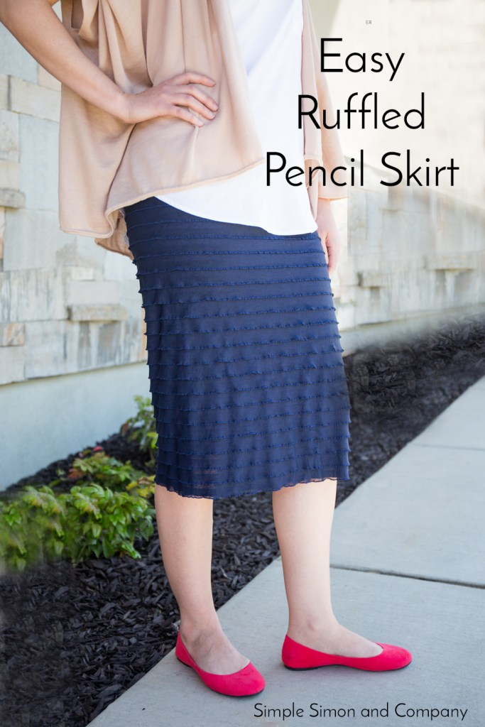 easy ruffled pencil skirt