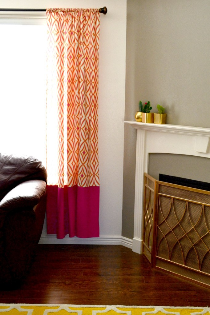 Curtains with Contrasting Band