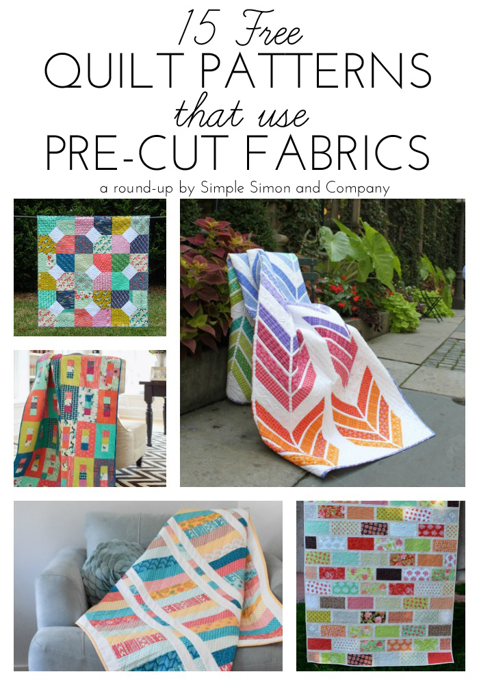 15 Free Quilt Patterns that Use Precuts