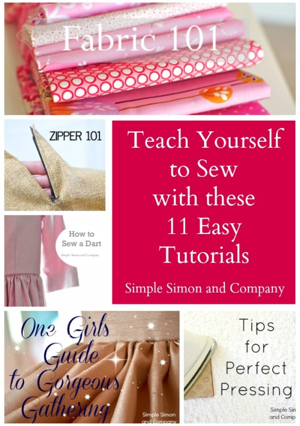 Teach Yourself to Sew With 11 Easy Tutorials