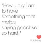 How Lucky I am…. (An Art of Homemaking Post)