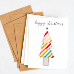 Fabric Scraps Holiday Cards