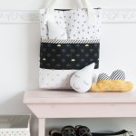 When Skies are Grey Fabric Tour–Polka Dot Chair