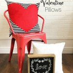 Easy Valentine Pillows Tutorial