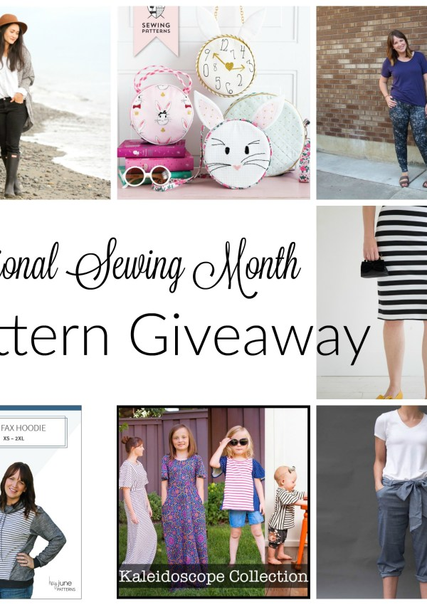 National Sewing Month Sewing Pattern Giveaway Palooza