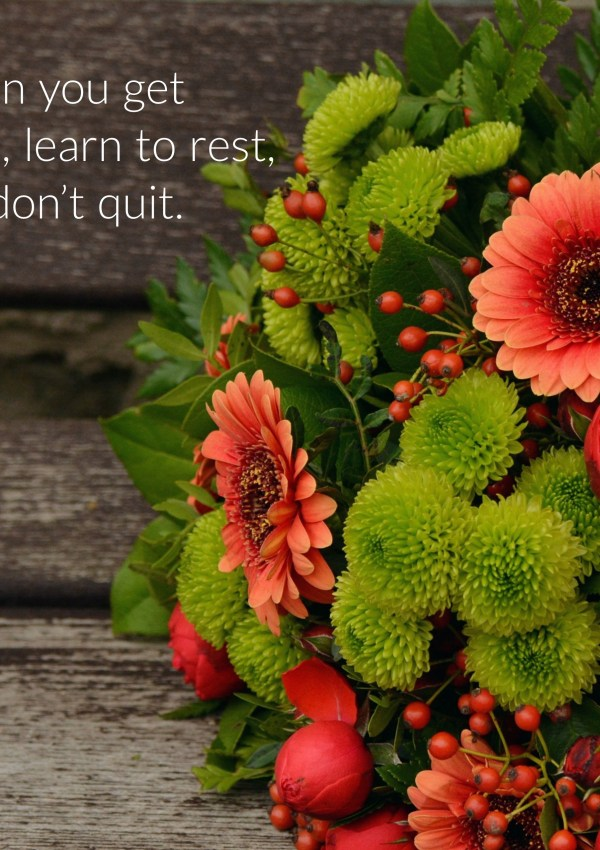 The Art of Homemaking: Learn to Rest