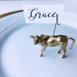 DIY Gold Toy Animal Place Card Holders