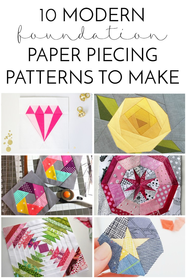 10 modern foundation paper piecing patterns to make simple simon
