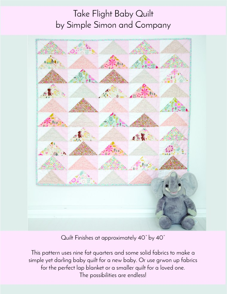 Take Flight Baby Quilt Pattern Simple Simon And Company