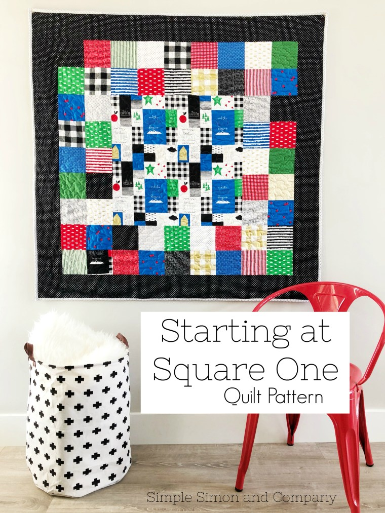 Starting At Square One Quilt Pattern Perfect For Beginners Unique Simple Square Quilt Patterns