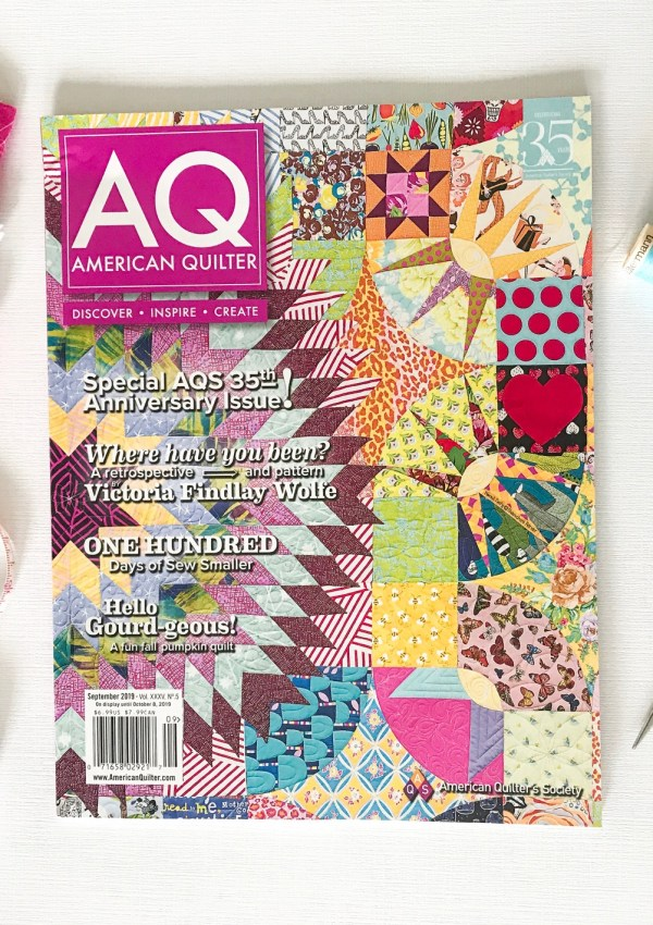 Marigold Quilt with American Quilter