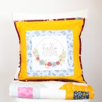 Hello Autumn Pillow (and how to print your own fabric!)