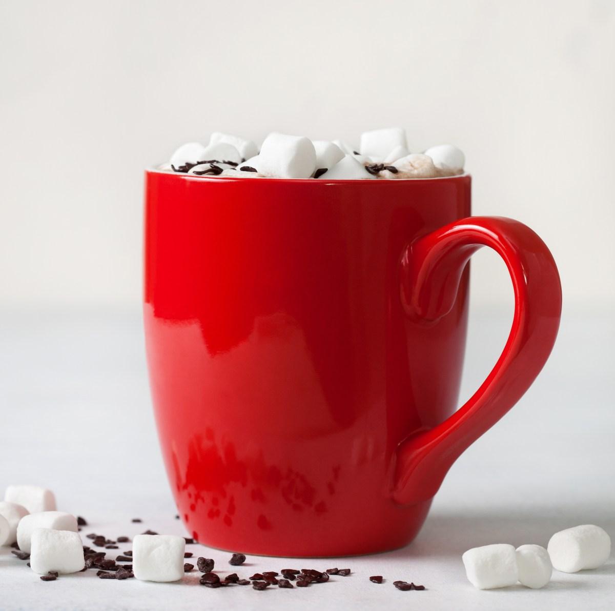 Christmas morning hot cocoa recipe close up