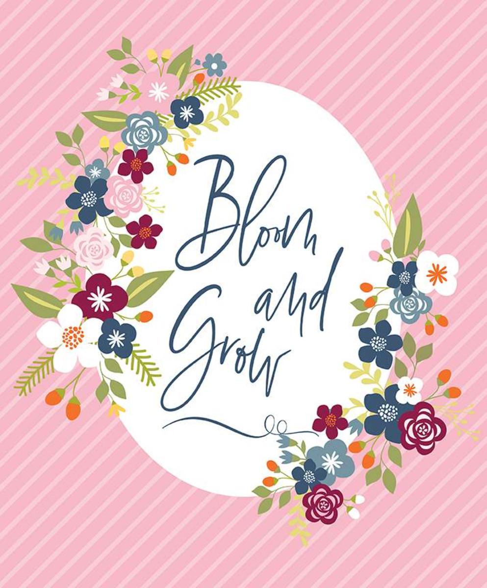 Bloom and Grow Fabric Panel