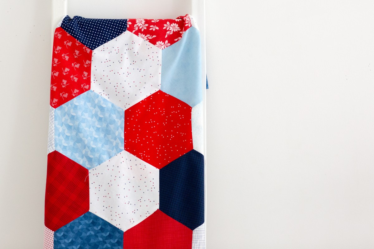 Pieced Hexagon Quilt Pattern Simple Simon and Company