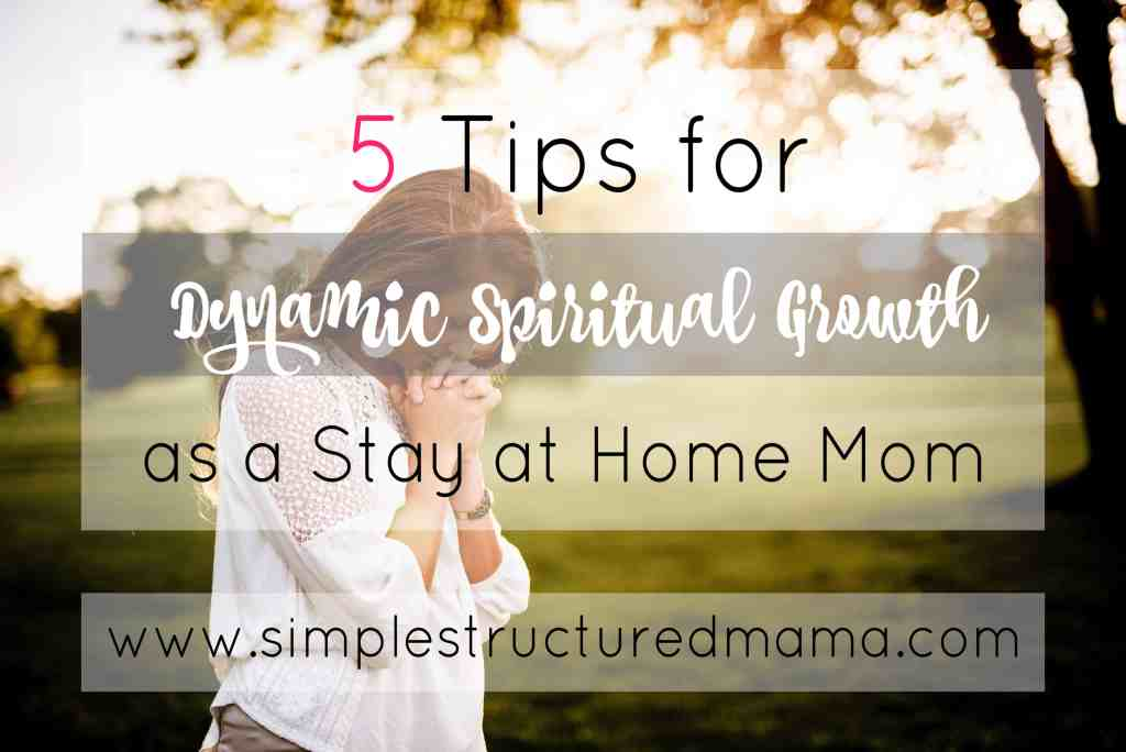 5 Tips for Dynamic Spiritual Growth as a Stay at Home Mom