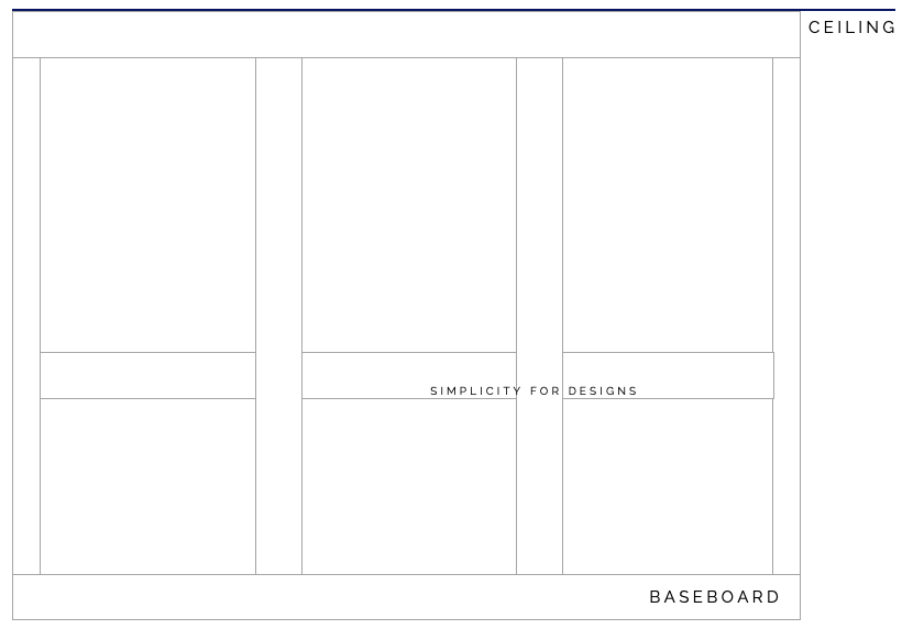 recessed panel wall spacing