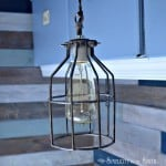 DIY Cage Light Inspired By Restoration Hardware Lighting...Uncaged