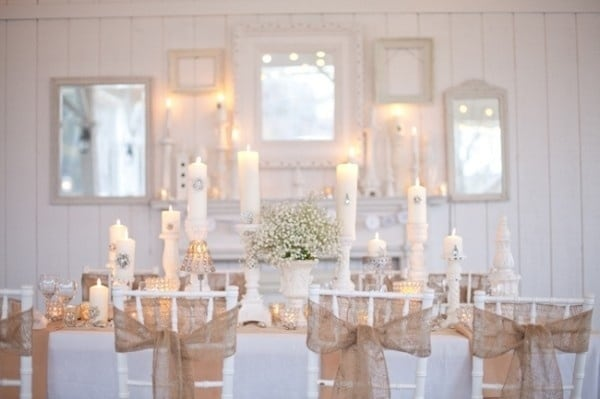 burlap and crystal wedding inspiration