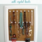Tutorial for a Burlap and Crystal Jewelry Holder