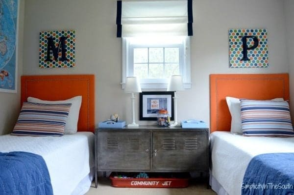 Boy's shared bedroom by Simplicity In The South.