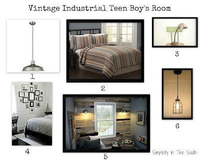 Adding a vintage-industrial style to our teenage son's bedroom