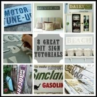 Need Some Inspiration & A Tutorial? Well, Here's Your Sign {8 Great DIY Sign Tutorials}