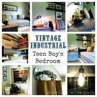 Vintage Industrial Teen Boy's Bedroom and Closet/Office Reveal